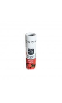 Bálsamo labial ecológico brillo karité y fresa - Naturabio cosmetics - 9,5 g