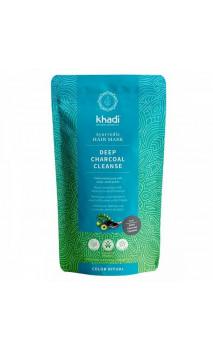 Mascarilla capilar ecológica - Limpieza profunda con carbón activo AMLA - Khadi - 50 g.
