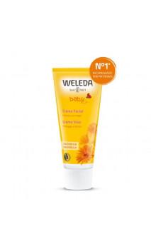 Crème visage bio au Calendula pour bébé - Weleda - 50 ml.