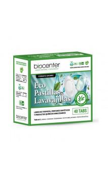 Pastillas para lavavajillas ecológicas - Tabletas hidrosolubles - Biocenter - 40 ud.
