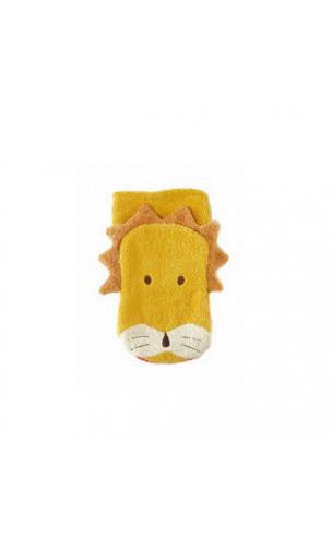 Gant de toilette Marionnette - Coton biologique - LION Adulte - Fürnis - 1 unité