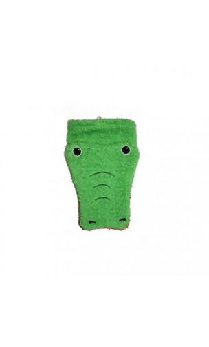 Gant de toilette Marionnette - Coton biologique - CROCODILE Adulte - Fürnis - 1 unité