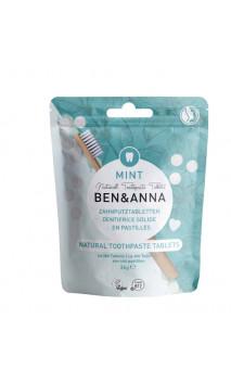 Dentífrico sólido natural Pastillas - Menta - Sin flúor - Ben & Anna - 36 g.