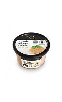 Exfoliante corporal natural espumoso - Caña de Azúcar & Sal - Organic Shop - 250 ml.