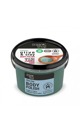 Soin exfoliant naturel - Olive & Argile - Organic Shop - 250 ml.