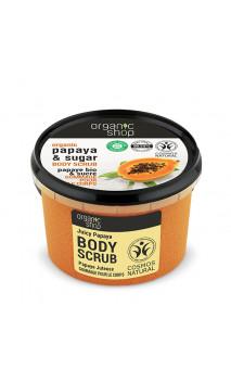 Soin exfoliant naturel - Papaye & Sucre de canne - Organic Shop - 250 ml.