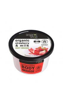 Mousse corporelle naturelle - Yahourt à la fraise - Organic Shop - 250 ml