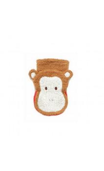 Gant de toilette Marionnette - Coton biologique - SINGE Enfant- Fürnis - 1 unité