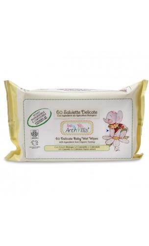 Lingettes douces bio - Anthyllis Baby - 60 unités