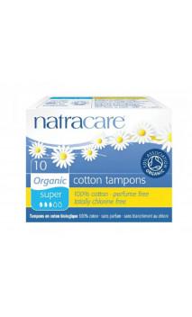 Tampón Super algodón bio sin aplicador - Natracare - 10 Ud.
