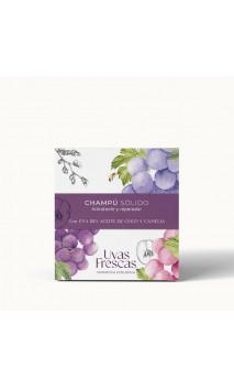 Shampooing solide bio hydratant & réparateur - Raisins, noix de coco & camélia - Uvas Frescas - 70 g.