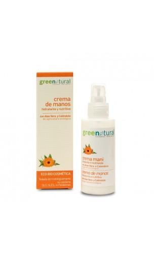 Crème de mains bio hydratante et nutritive - Greenatural - 100 ml.