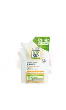 RECHARGE Gel douche crémeux bio Sans Sulfates SURGRAS (Karité) - SO'BiO étic - 650 ml.