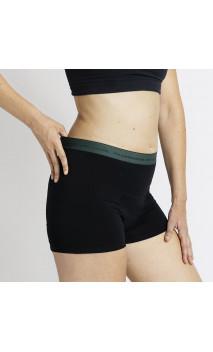 Short ESSENCE PLUS Verde - Abundante - Short menstrual - Algodón Orgánico GOTS  - Cocoro Intim - 1 unidad