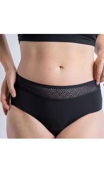 Classique MOERI Noire - Modéré - Culotte menstruelle Coton BIO GOTS - Cocoro Intim - 1 unité