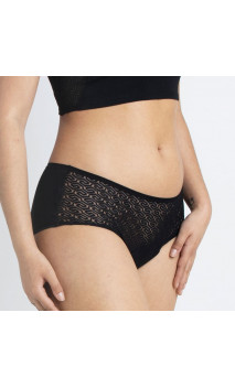 Clásica MOERI PLUS Negra - Abundante - Braga menstrual Algodón Orgánico GOTS  -  Cocoro Intim - 1 unidad