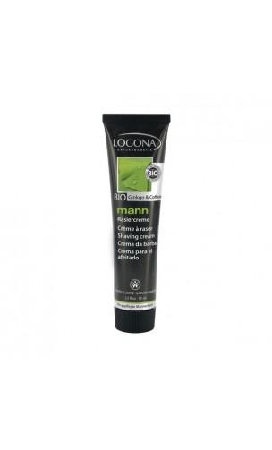 Crema de afeitar ecológica con ginkgo y cafeína - Logona Mann - 75 ml.