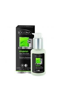 Baume aftershave BIO aux extraits de ginkgo et à la caféine - Logona Mann - 50 ml.