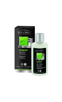 Lotion aftershave BIO aux extraits de ginkgo et à la caféine - Logona Mann - 100 ml.