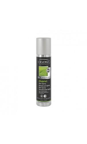 Desodorante spray ecológico para hombre con ginkgo y cafeína - Logona Mann - 100 ml.