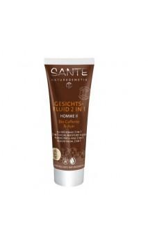 Fluido hidratante facial ecológico 2 en 1 con cafeína y açai - SANTE - 50 ml.