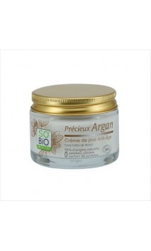 Crema de día antiedad ecológica Précieux Argan - So'Bio Etic - 50 ml.