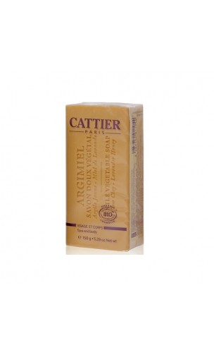 Jabón vegetal ecológico Argimiel para pieles normales/mixtas - Cattier - 150 gr.