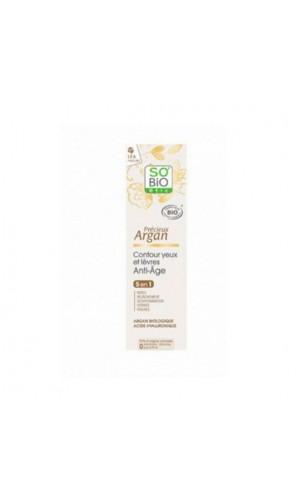 Contorno de ojos y labios ecológico Précieux Argan - So'Bio Etic - 15 ml.