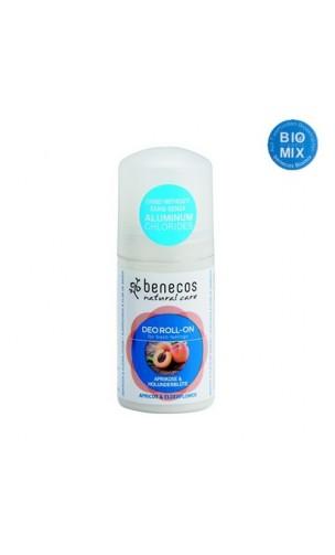 Déodorant bio en roll-on For fresh feelings Abricot & Fleur de sureau - Benecos - 50 ml.