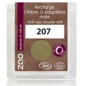 Recharge ombre à paupières bio - Vert olive - Mate - ZAO - 207