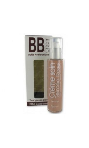 BB Cream ecológica Ácido Hialurónico (Tono rosa) - Naturado en Provence - 50 ml.