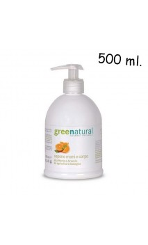 Gel bio pour mains et corps à la menthe et à l'orange - Greenatural - 500 ml.