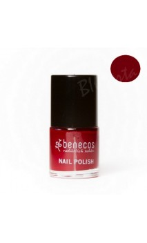 Vernis à ongles naturel - Cherry red - Benecos - 5 ml.
