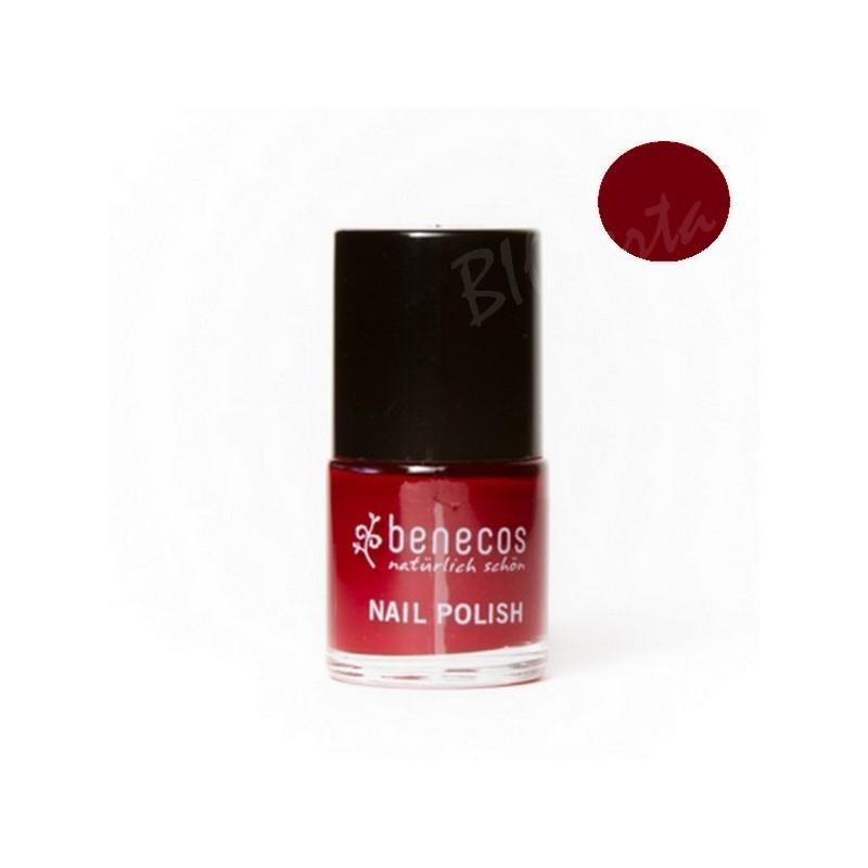 vernis ongles naturel cherry red benecos 9 ml. Black Bedroom Furniture Sets. Home Design Ideas