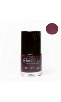 Vernis à ongles naturel - Deep plum - Benecos - 9 ml.