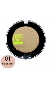 BB Compact 5 en 1 Corrector universal ecológico 01 Beige Clair - SO'BiO étic - 3,8 gr.