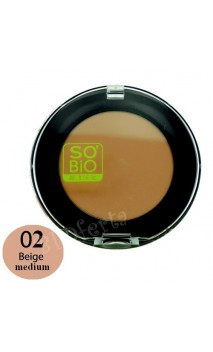 BB Compact 5 en 1 Correcteur universel BIO 02 Beige Medium - SO'BiO étic - 3,8 gr.