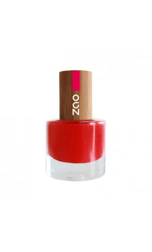 Vernis à ongle naturel - Zao Make Up - Rouge Carmin - 650 - 8 ml.