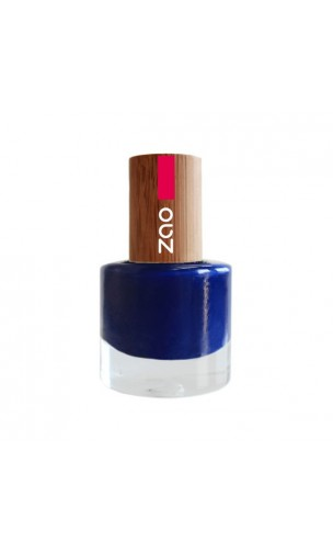 Vernis à ongle naturel - Zao Make Up - Bleu Nuit - 653 - 8 ml.