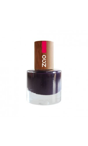 Vernis à ongle naturel - Zao Make Up - Prune - 651 - 8 ml.