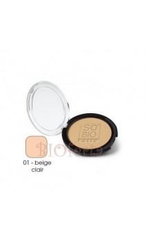 Polvo compacto matificante ecológico 01 Beige clair - So'Bio Étic - 10 gr.