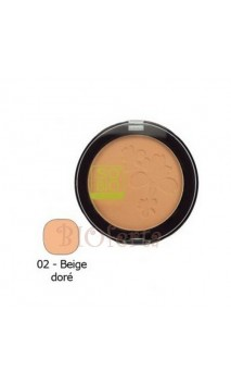 Polvo compacto matificante ecológico 02 Beige doré - SO'BiO étic - 10 gr.