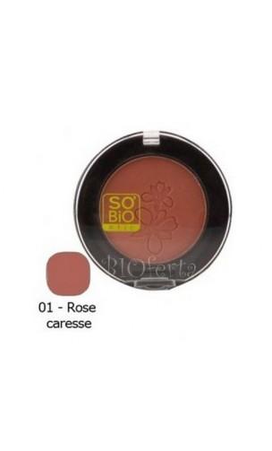 Fard à joues BIO Lumière 01 Rose caresse - So'Bio Étic - 4,5 gr.