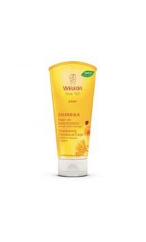 Shampooing & gel douche BIO au Calendula pour bébé - Weleda - 200 ml.