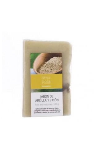 Savon BIO argile et citron - Amapola - 100 gr.