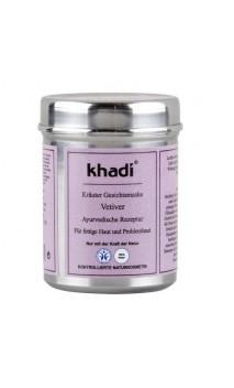Mascarilla facial ecológica Vetiver Piel Grasa - Khadi - 50 gr.