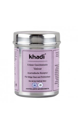 Masque visage BIO Vétiver Peau grasse - Khadi - 50 gr.