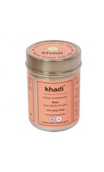 Mascarilla facial ecológica Rosa Antiedad Piel seca, sensible y madura - Khadi - 50 gr.