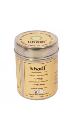 Mascarilla facial & corporal ecológica Naranja Piel mixta - Khadi - 50 gr.