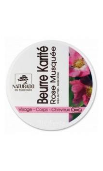 Beurre de karité bio à l'huile de Rose musquée BIO - Naturado en Provence - 150 ml.